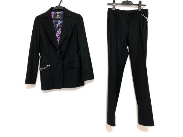 VERSACE(ヴェルサーチ) レディースパンツスーツ サイズ38 M レディース 黒