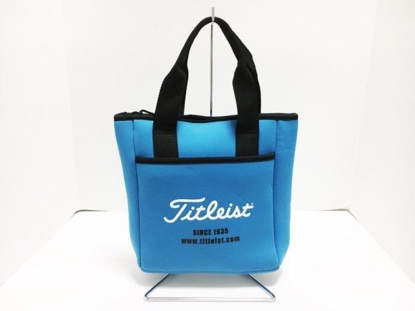 Titleist(タイトリスト) ハンドバッグ ブルー×黒×白 保冷バッグ 化学繊維
