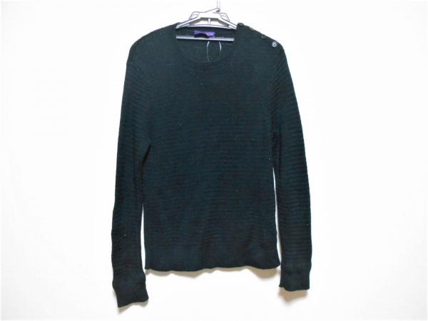 ラルフローレンコレクション パープルレーベル 長袖セーター サイズM メンズ 黒