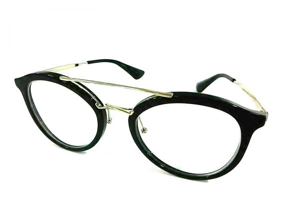 PRADA(プラダ) メガネ美品  オプチカルフレーム VPR15T クリア×黒×シルバー 度入り