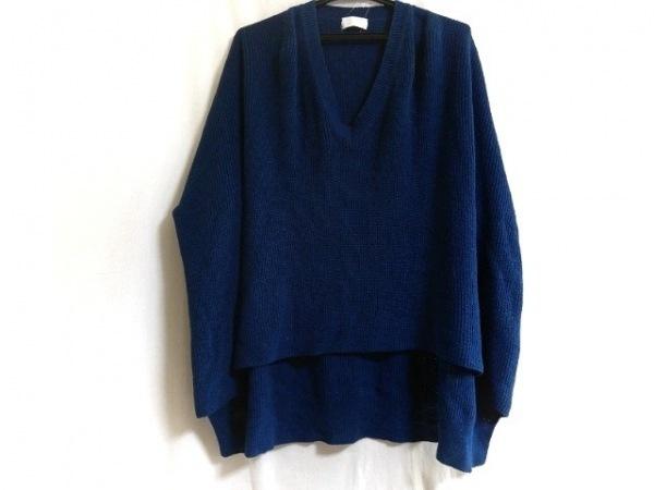 mame(マメ) セーター サイズ1 S レディース ブルー 袖口フラワー