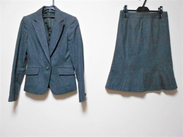 COMME CA ISM(コムサイズム) スカートスーツ レディース ダークグレー