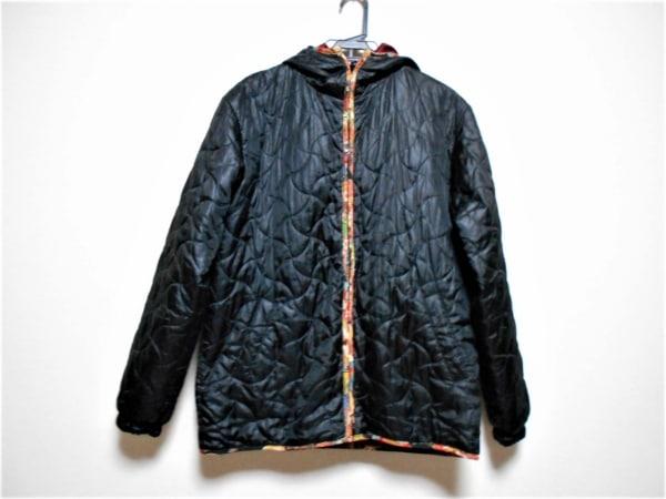 ティーケータケオキクチ ダウンコート サイズ3 L メンズ 黒 冬物/リバーシブル