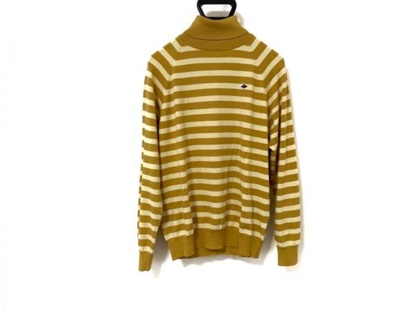 パーリーゲイツ 長袖セーター サイズ4 XL メンズ ライトブラウン×アイボリー