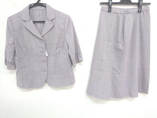 Leilian(レリアン) スカートスーツ サイズ9 M レディース美品  ピンク×ライトグレー