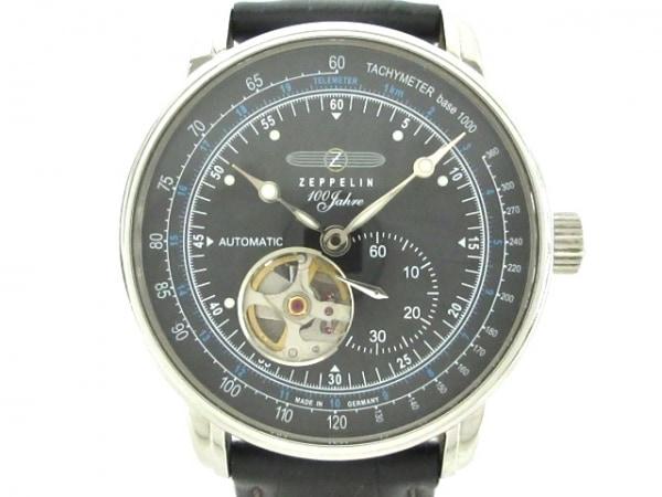ZEPPELIN(ツェッペリン) 腕時計 7662 メンズ 裏スケ/100周年記念モデル 黒