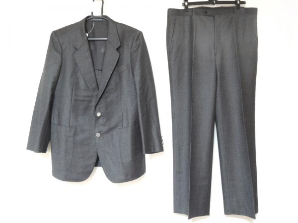 LANVIN(ランバン) シングルスーツ メンズ美品  ダークグレー