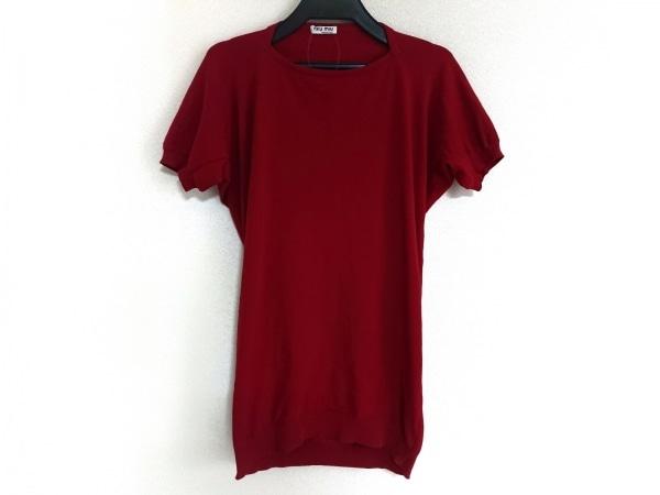 miumiu(ミュウミュウ) 半袖セーター サイズ38 S レディース美品  レッド