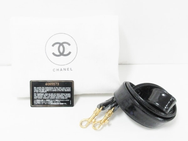CHANEL(シャネル) バニティバッグ - 黒 ココマーク/ゴールド金具 9