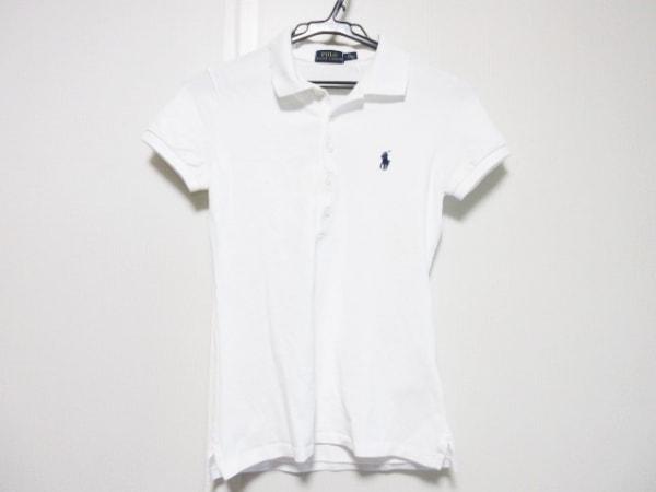 ポロラルフローレン 半袖ポロシャツ サイズS レディース アイボリー
