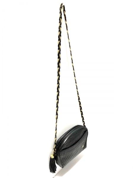 BALLY(バリー) ショルダーバッグ 黒 キルティング/チェーンショルダー レザー