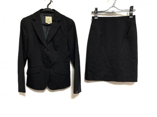 組曲 KUMIKYOKU(クミキョク) スカートスーツ サイズ2 M レディース 黒