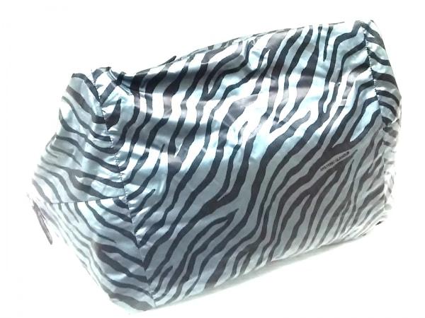 HYSTERIC GLAMOUR(ヒステリックグラマー) ハンドバッグ 黒×ライトブルー ナイロン