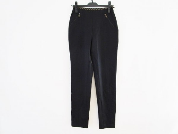 FENDI(フェンディ) パンツ サイズ42(I) M レディース 黒×ブラウン
