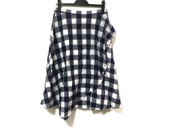 ローズティアラ スカート サイズ42 L レディース美品  ネイビー×白×レッド