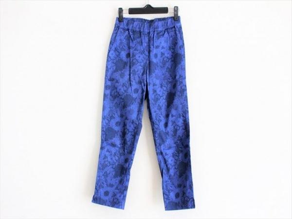 Leilian(レリアン) パンツ サイズ7 S レディース ブルー×ネイビー ウエストゴム/花柄