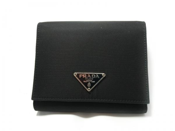 PRADA(プラダ) 3つ折り財布 - 黒 ナイロン