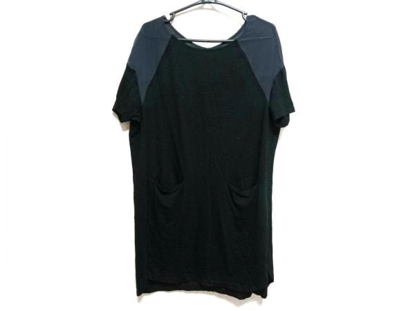 エムアンドキョウコ ワンピース サイズF レディース美品  黒×グレー