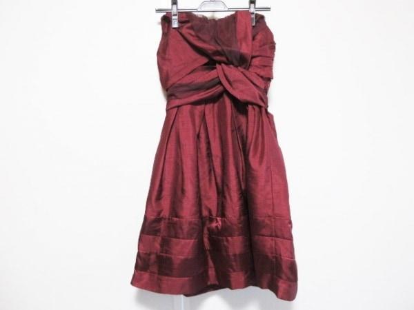 YLANG YLANG(イランイラン) ドレス サイズS レディース美品  ボルドー