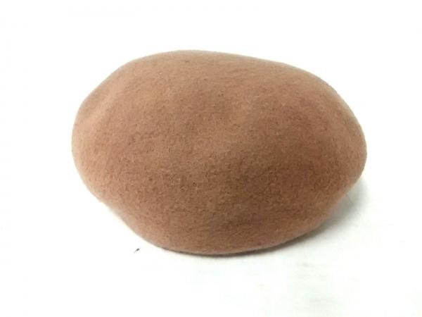 CA4LA(カシラ) 帽子美品  ライトブラウン ウール