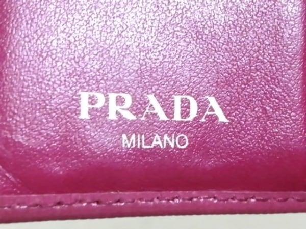 PRADA(プラダ) 3つ折り財布 - 1MH176 ピンク レザー 5