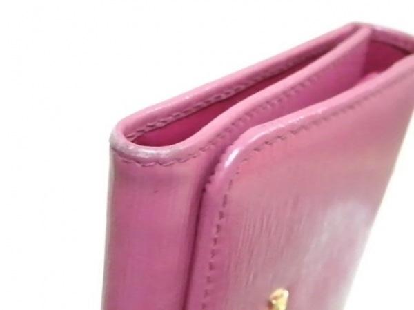 PRADA(プラダ) 3つ折り財布 - 1MH176 ピンク レザー 6