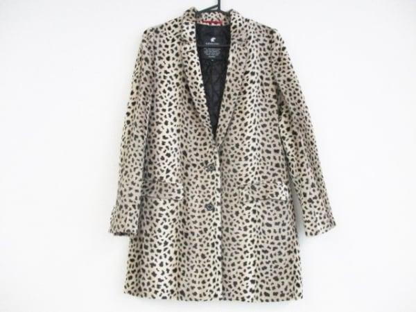 LOVELESS(ラブレス) コート サイズ36 S レディース美品  アイボリー×黒 豹柄/冬物