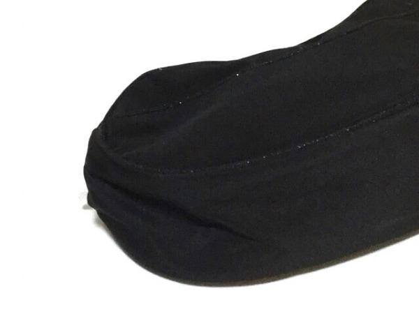 ディオールビューティー ハンドバッグ 黒 リボン/ラメ ナイロン×化学繊維