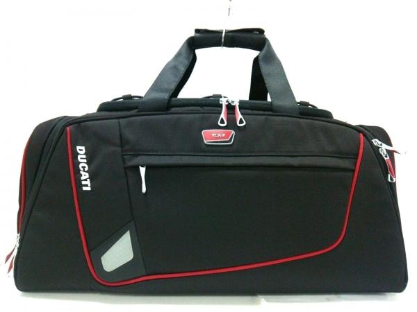 TUMI(トゥミ) ボストンバッグ美品  65150TRK 黒×レッド ×Ducati TUMIナイロン