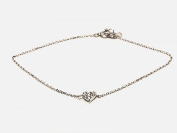 スタージュエリー ブレスレット美品  K10WG×ダイヤモンド 0.06カラット/ハート