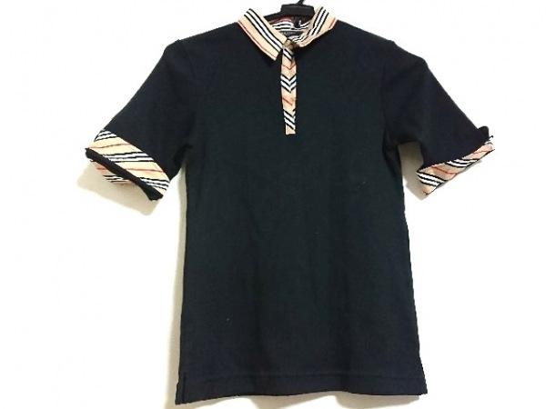 バーバリーゴルフ 半袖ポロシャツ サイズM レディース美品  黒×ベージュ×マルチ