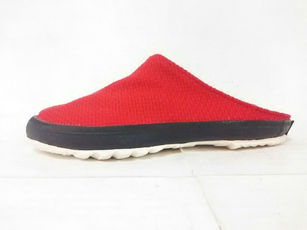 SOU・SOU(ソウソウ) 靴 S レディース美品  レッド 足袋 キャンバス
