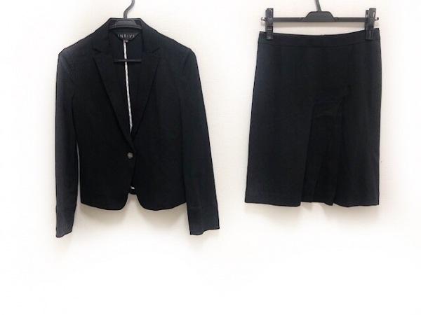 INDIVI(インディビ) スカートスーツ サイズ36 S レディース 黒