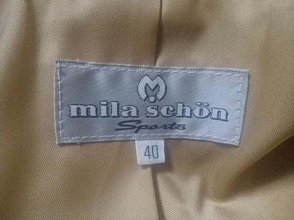 mila schon(ミラショーン) コート サイズ40 M レディース アイボリー 冬物