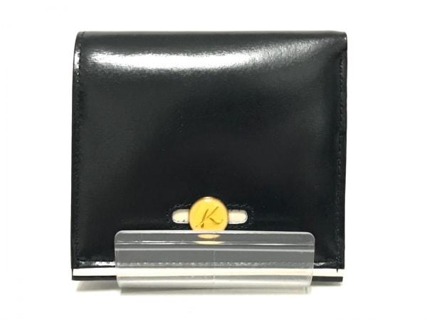 KITAMURA(キタムラ) 2つ折り財布 ダークネイビー×白 レザー