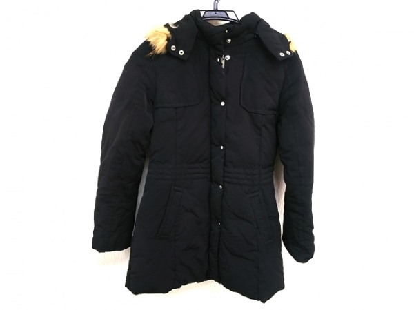 BALLSEY(ボールジー) ダウンコート サイズ38 M レディース 黒 ファー/冬物