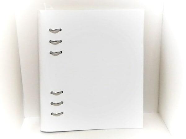 Filofax(ファイロファックス) 手帳新品同様  クリップブック 白 A5 合皮