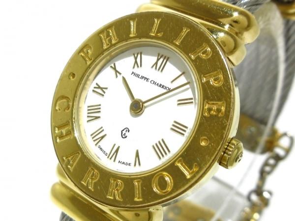 フィリップシャリオール 腕時計 サントロペ 7007901 レディース 白