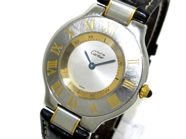 Cartier(カルティエ) 腕時計 マスト21 - ボーイズ シルバー×ゴールド