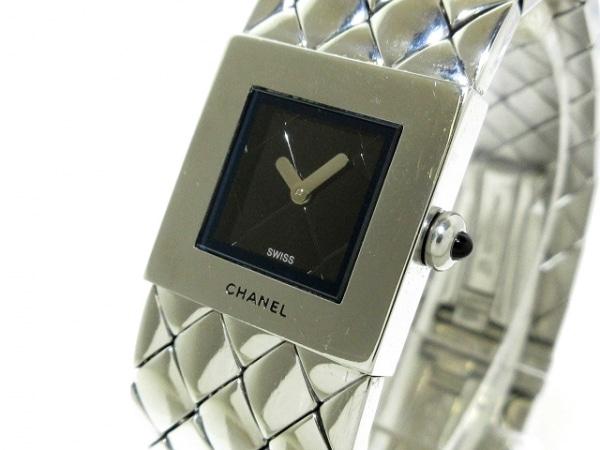 CHANEL(シャネル) 腕時計 マトラッセ - レディース 黒