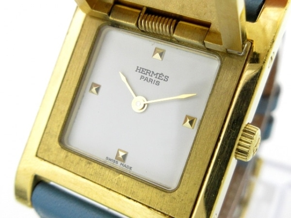 HERMES(エルメス) 腕時計 メドール - レディース 白
