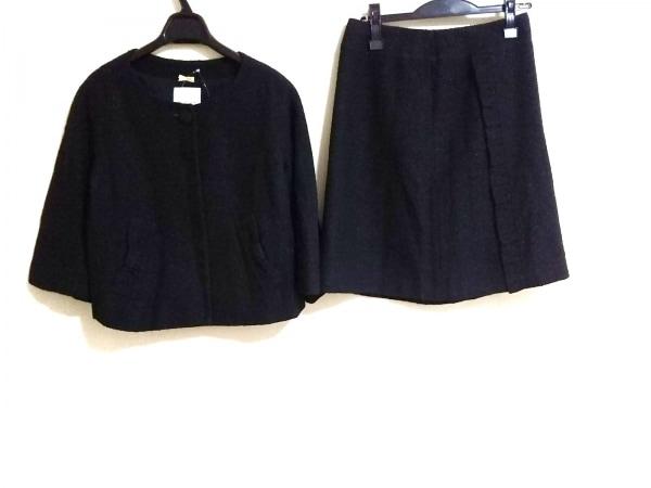 ボンメルスリー スカートスーツ サイズ36 S レディース ダークネイビー ラメ