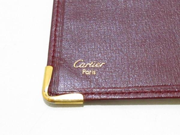 Cartier(カルティエ) 札入れ マストライン ボルドー×ゴールド レザー×金属素材