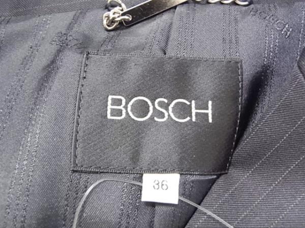 ボッシュ レディースパンツスーツ サイズ36 S レディース新品同様  黒×ライトグレー