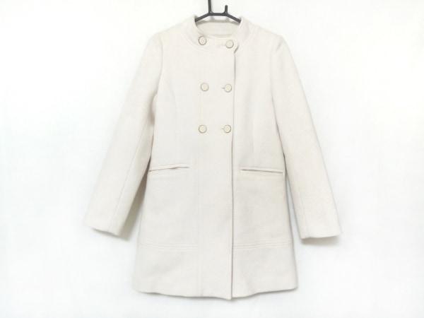 ミニマム コート サイズ1 S レディース美品  アイボリー スタンドカラー/冬物