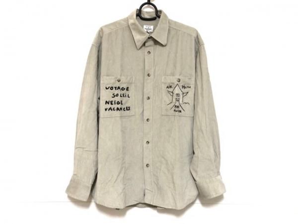 カステルバジャックスポーツ 長袖シャツ サイズ3 L メンズ ライトグレー