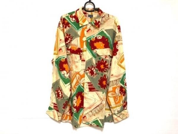 KENZO(ケンゾー) 長袖シャツ サイズF メンズ アイボリー×レッド×マルチ