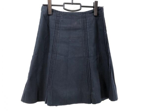 miumiu(ミュウミュウ) スカート サイズ38 S レディース - - ダークネイビー ひざ丈