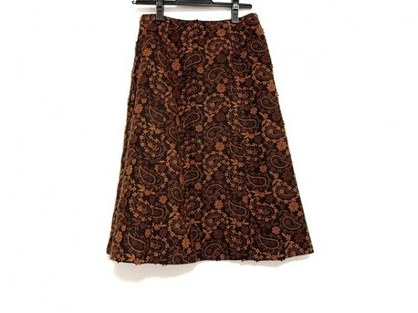Scapa(スキャパ) ロングスカート サイズ36 M レディース美品  刺繍/フラワー