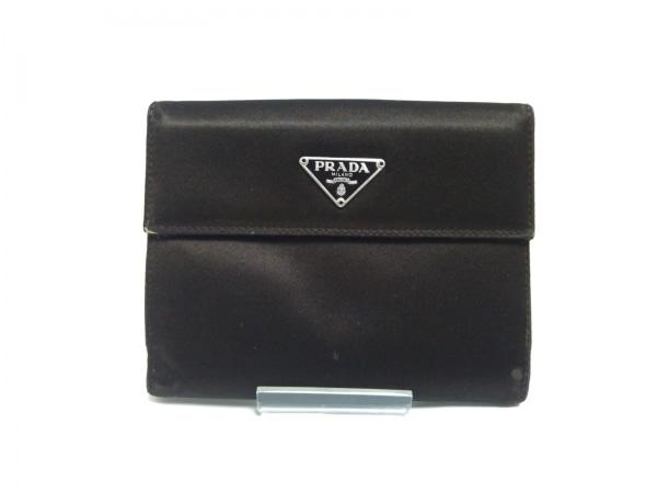 PRADA(プラダ) Wホック財布 - ダークブラウン ナイロン